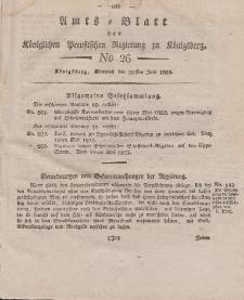 Amts-Blatt der Königlichen Preußischen Regierung zu Königsberg, Mittwoch, 25. Juni 1823, Nr. 26
