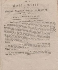 Amts-Blatt der Königlichen Preußischen Regierung zu Königsberg, Mittwoch, 16. Juli 1823, Nr. 29