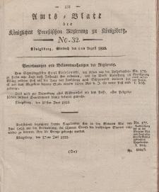 Amts-Blatt der Königlichen Preußischen Regierung zu Königsberg, Mittwoch, 6. August 1823, Nr. 32