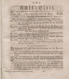 Amts-Blatt der Königl. Regierung zu Marienwerder, 24. April 1835, No. 17.
