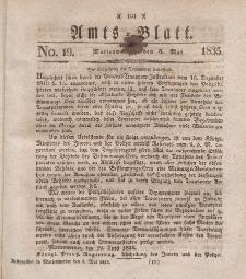 Amts-Blatt der Königl. Regierung zu Marienwerder, 8. Mai 1835, No. 19.