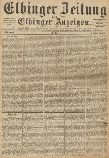 Elbinger Zeitung und Elbinger Anzeigen, Nr. 107 Mittwoch 8. Mai 1889