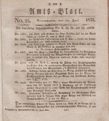Amts-Blatt der Königl. Regierung zu Marienwerder, 19. Juni 1835, No. 25.