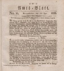Amts-Blatt der Königl. Regierung zu Marienwerder, 24. Juli 1835, No. 30.