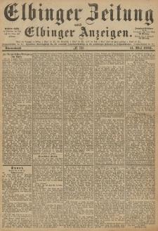 Elbinger Zeitung und Elbinger Anzeigen, Nr. 110 Sonnabend 11. Mai 1889