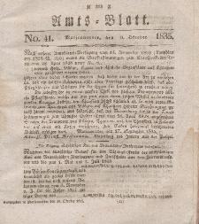 Amts-Blatt der Königl. Regierung zu Marienwerder, 9. Oktober 1835, No. 41.