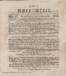 Amts-Blatt der Königl. Regierung zu Marienwerder, 20. November 1835, No. 47.