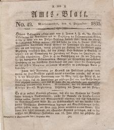 Amts-Blatt der Königl. Regierung zu Marienwerder, 4. Dezember 1835, No. 49.