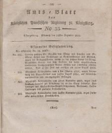 Amts-Blatt der Königlichen Preußischen Regierung zu Königsberg, Mittwoch, 24. Dezember 1823, Nr. 53
