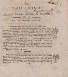 Amts-Blatt der Königlichen Preußischen Regierung zu Königsberg, Mittwoch, 7. Juli 1824, Nr. 29