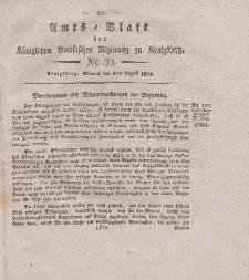 Amts-Blatt der Königlichen Preußischen Regierung zu Königsberg, Mittwoch, 4. August 1824, Nr. 33