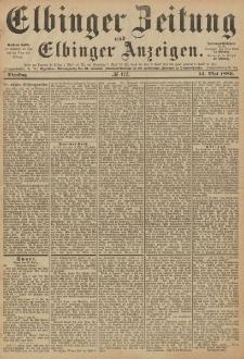 Elbinger Zeitung und Elbinger Anzeigen, Nr. 112 Dienstag 14. Mai 1889