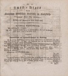 Amts-Blatt der Königlichen Preußischen Regierung zu Königsberg, Mittwoch, 18. August 1824, Nr. 35