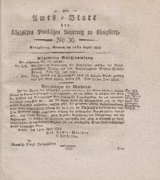 Amts-Blatt der Königlichen Preußischen Regierung zu Königsberg, Mittwoch, 25. August 1824, Nr. 36