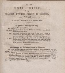 Amts-Blatt der Königlichen Preußischen Regierung zu Königsberg, Mittwoch, 17. November 1824, Nr. 48