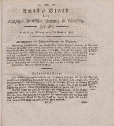 Amts-Blatt der Königlichen Preußischen Regierung zu Königsberg, Mittwoch, 24. November 1824, Nr. 49