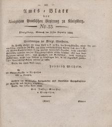 Amts-Blatt der Königlichen Preußischen Regierung zu Königsberg, Mittwoch, 22. Dezember 1824, Nr. 53