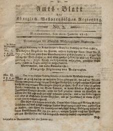 Amts-Blatt der Königlich Westpreußischen Regierung zu Marienwerder, 8. Januar 1813, No. 2.