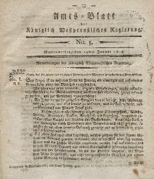 Amts-Blatt der Königlich Westpreußischen Regierung zu Marienwerder, 29. Januar 1813, No. 5.