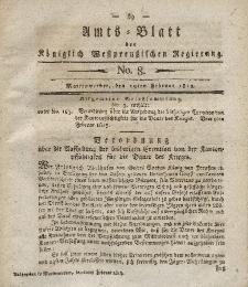 Amts-Blatt der Königlich Westpreußischen Regierung zu Marienwerder, 19. Februar 1813, No. 8.