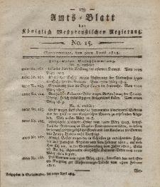 Amts-Blatt der Königlich Westpreußischen Regierung zu Marienwerder, 9. April 1813, No. 15.