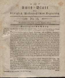 Amts-Blatt der Königlich Westpreußischen Regierung zu Marienwerder, 30. April 1813, No. 18.