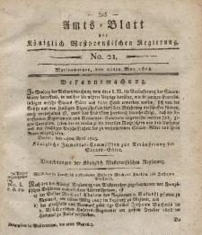 Amts-Blatt der Königlich Westpreußischen Regierung zu Marienwerder, 21. Mai 1813, No. 21.