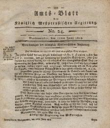 Amts-Blatt der Königlich Westpreußischen Regierung zu Marienwerder, 11. Juni 1813, No. 24.