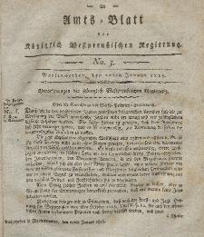 Amts-Blatt der Königlich Westpreußischen Regierung zu Marienwerder, 20. Januar 1815, No. 3.