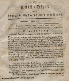 Amts-Blatt der Königlich Westpreußischen Regierung zu Marienwerder, 7. April 1815, No. 14.