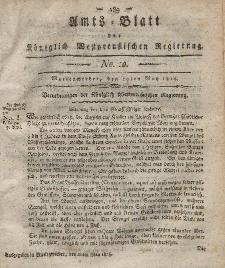 Amts-Blatt der Königlich Westpreußischen Regierung zu Marienwerder, 19. Mai 1815, No. 20.