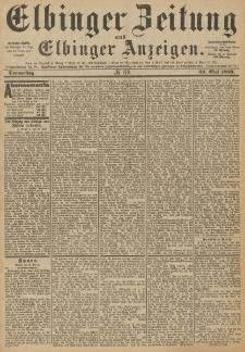 Elbinger Zeitung und Elbinger Anzeigen, Nr. 119 Donnerstag 23. Mai 1889