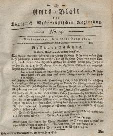 Amts-Blatt der Königlich Westpreußischen Regierung zu Marienwerder, 16. Juni 1815, No. 24.