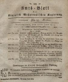 Amts-Blatt der Königlich Westpreußischen Regierung zu Marienwerder, 23. Juni 1815, No. 25.