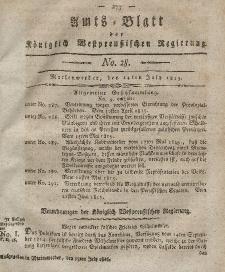 Amts-Blatt der Königlich Westpreußischen Regierung zu Marienwerder, 14. Juli 1815, No. 28.