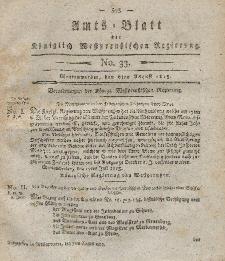 Amts-Blatt der Königlich Westpreußischen Regierung zu Marienwerder, 6. August 1813, No. 33.