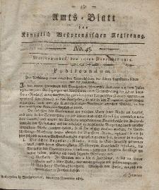 Amts-Blatt der Königlich Westpreußischen Regierung zu Marienwerder, 10. November 1815, No. 45.