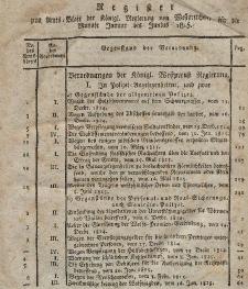 Amts-Blatt der Königlich Westpreußischen Regierung zu Marienwerder für das Jahr 1815 (Register)