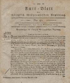 Amts-Blatt der Königlich Westpreußischen Regierung zu Marienwerder, 26. November 1813, No. 50.