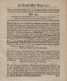 Amts-Blatt der Königlich Westpreußischen Regierung zu Marienwerder, 10. Dezember 1813, No. 52.
