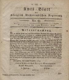 Amts-Blatt der Königlich Westpreußischen Regierung zu Marienwerder, 17. Dezember 1813, No. 53.