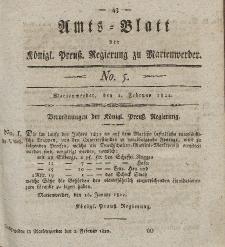 Amts-Blatt der Königl. Preuß. Regierung zu Marienwerder, 1. Februar 1822, No. 5.