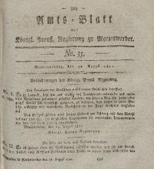 Amts-Blatt der Königl. Preuß. Regierung zu Marienwerder, 30. August 1822, No. 35.