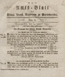 Amts-Blatt der Königl. Preuß. Regierung zu Marienwerder, 13. Januar 1826, No. 2.