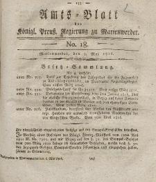 Amts-Blatt der Königl. Preuß. Regierung zu Marienwerder, 5. Mai 1826, No. 18.