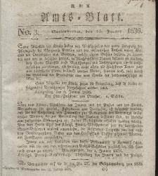 Amts-Blatt der Königl. Regierung zu Marienwerder, 15. Januar 1836, No. 3.