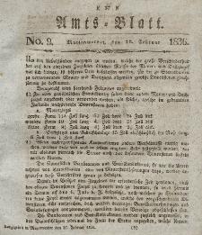 Amts-Blatt der Königl. Regierung zu Marienwerder, 26. Februar 1836, No. 9.