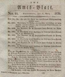Amts-Blatt der Königl. Regierung zu Marienwerder, 4. März 1836, No. 10.