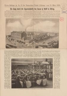 Extra-Beilage zu No. 12 der Deutschen Tabak-Zeitung vom 23 März 1899