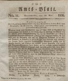 Amts-Blatt der Königl. Regierung zu Marienwerder, 20. Mai 1836, No. 21.